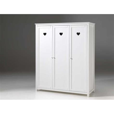 armoire chambre enfants armoire pour chambre enfant fille 3 portes blanc laqué