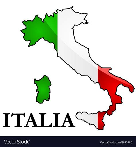 italy map flag stock vector map and flag of italy royalty free vector image ital