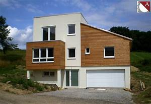 Faade maison moderne fabulous maison moderne blanche et for Couleur facade maison contemporaine 9 maison moderne grise