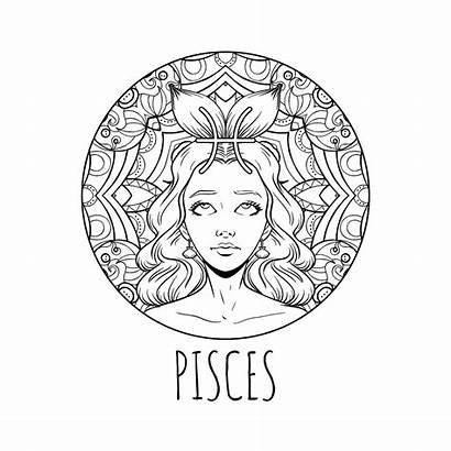 Zodiac Coloring Signs Printable Pisces Calendar 30seconds