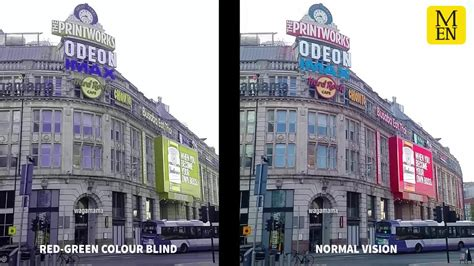 what it looks like to be color blind this is what manchester looks like to colour blind