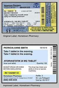 January 2017 update easy to read prescription medication for How to read medication labels