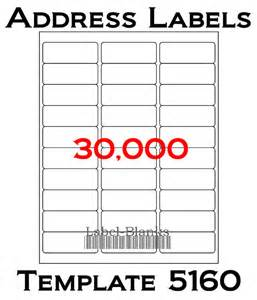 """Laser / Ink Jet Labels - 1,000 Sheets - 1"""" x 2 5/8"""" - Avery Template 5160 - Blank White - Address Labels - 30,000 Labels"""
