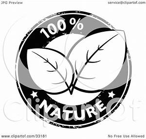Clipart Illustration Of A Black And White 100 Percent Pure