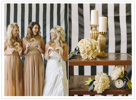 sultry roil black white gold  years wedding ideas