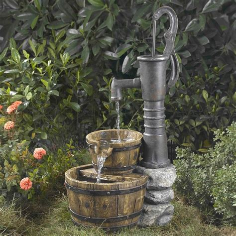 outdoor water half whiskey barrel style water