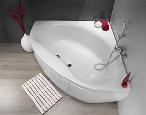 Baignoire D Angle 135x135 : baignoire d 39 angle nalia 135x135 blanc ~ Edinachiropracticcenter.com Idées de Décoration