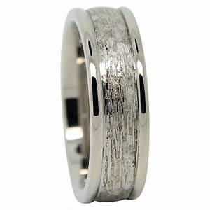 Titanium mens wedding ring with carved centreline for Mens carved wedding rings