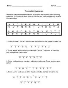 Worksheet the Protestant Reformation Answer