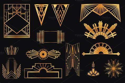 art deco design elements vol illustrations
