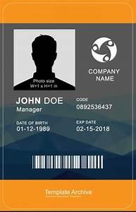 16 Id Badge  U0026 Id Card Templates  Free