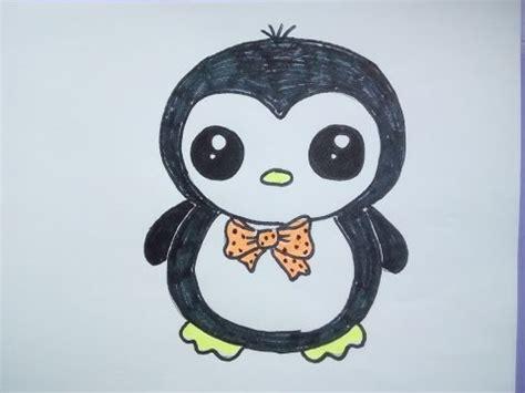 bilder zum nachmalen für kinder kawaii bilder tutorial einen pinguin malen zeichnen lernen f 252 r anf 228 nger und kinder