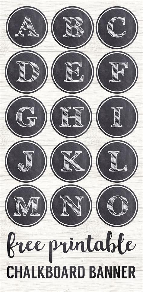 chalkboard banner letters  printable alphabet