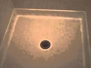 The Bathtub Medic Shower Stall Floor Pan Repair YouTube
