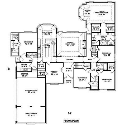 unique  bedroom cape  house plans  home plans design