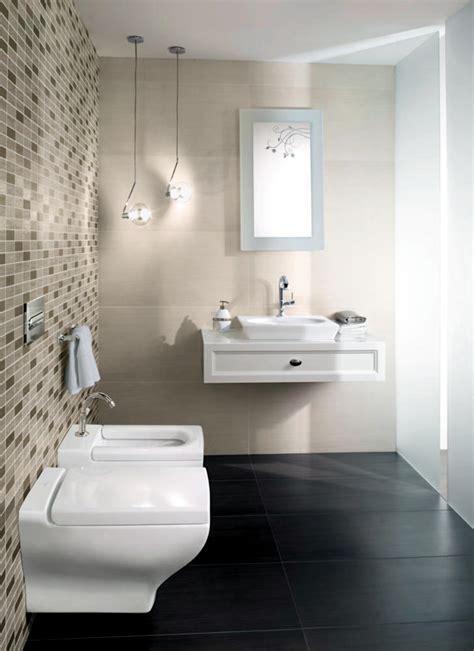 mosaic tiles  beige bathroom interior design ideas