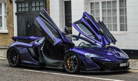 mclaren p1 purple watch a purple mclaren p1 raise hell in london