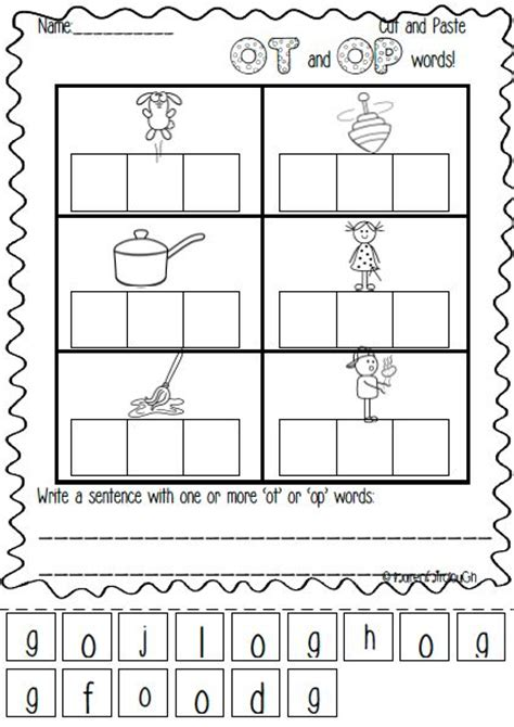 op family worksheets op and ot word family pack of literacy and spelling