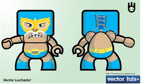 Vector Luchador For Vectottuts By Superchivo On Deviantart
