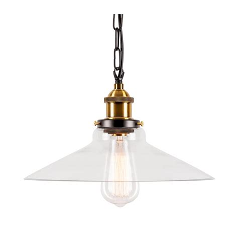industrial strasbourg glass pendant light hanging rope