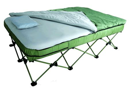 Camping Bed Set W / Lightweight Sleeping Bag Metal Table Bases Coffee Glass 60 Inch Round Dining Room Tables And Chair Rentals Infant Chairs Set Sale Patio Umbrella Hole
