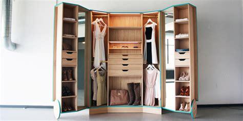 ergonomic walk in closet opens up into a stylish mini