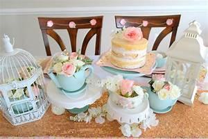 Vintage Bridal Shower Tea Party Ideas