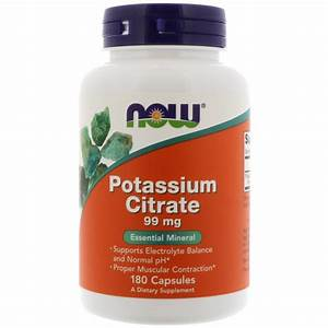 Now Foods, Potassium Citrate, 99 mg, 180 Capsules - iHerb.com