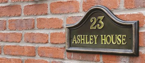 house number sign for l post house signs black country metal works