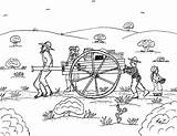 Pioneer Coloring Pages Handcart Pioneers 2bfamily 2bpioneer Children Plains Crossing Robin sketch template