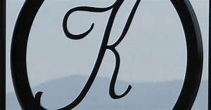 wrought iron k k pinterest home iron gates and the With wrought iron initial letters