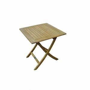 Table Jardin Bois Pliante : table sophie pliante en bois d 39 eucalyptus proloisirs ~ Teatrodelosmanantiales.com Idées de Décoration