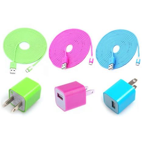 cool iphone chargers total 6pcs lot cool colouful 3pcs usb cord and charger