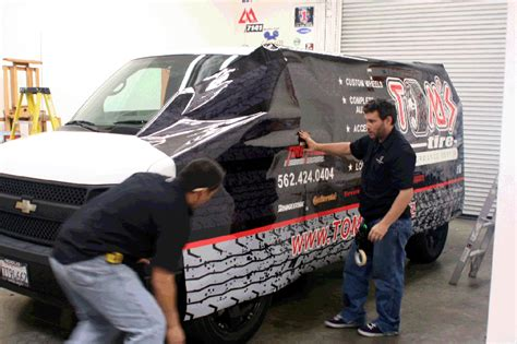 gmc van vehicle wrap custom design  iconography