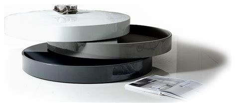 Contemporary Transforming Round Coffee Table With Storage
