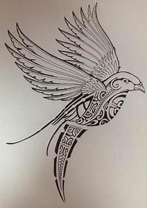 Dessin D Hirondelle Pour Tatouage : dessin pour tatouage oiseau rempli symboles motifs ~ Melissatoandfro.com Idées de Décoration
