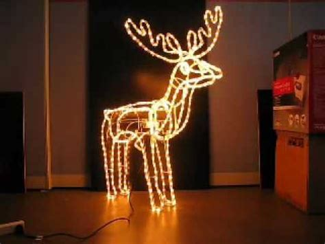 rope lighted christmas deer lights reindeer with moving