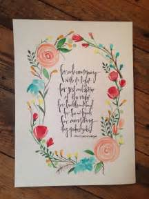 Flower Place Cards 11x14 Custom Watercolor With Quote Reserved For Jannalee
