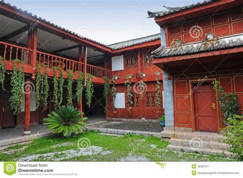 casa cinese casa cinese cortile fotografia stock libera da diritti