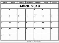 April 2019 Holiday Calendar Download – April 2019 Calendar
