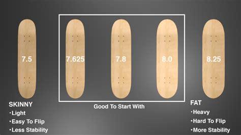 size of deck skateboard gear choosing right deck