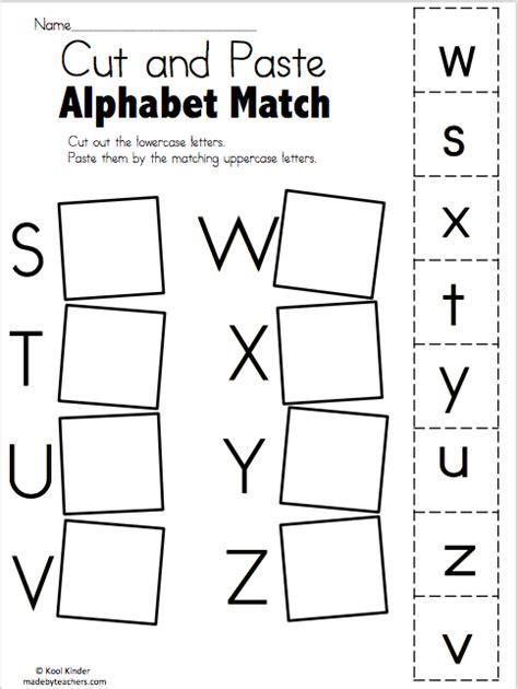 alphabet match s to z free worksheets madebyteachers