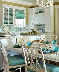 Turquoise, Blue, U0026, White, Beach, Theme, Kitchen