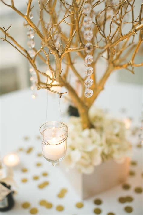 gold manzanita branch centerpieces tradesy weddings