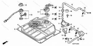 Honda Scooter 2008 Oem Parts Diagram For Fuel Tank