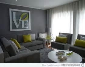 grey livingroom 15 lovely grey and green living rooms home design lover