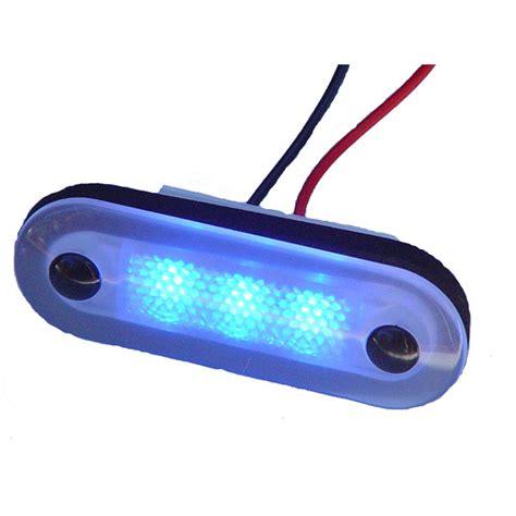 oval white led lights aqua signal santiago 3 led oval light west marine