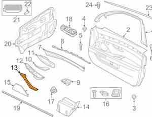 New Bmw M5 F10 Interior Rear Door Pull Handle Right