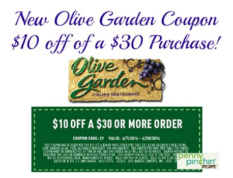 olive garden coupons printable save 10 a 30 purchase at olive garden
