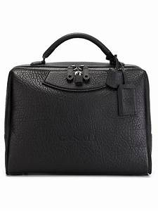 Canali Leather Briefcase in Black for Men - Lyst